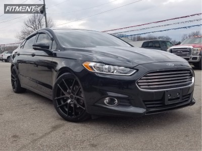 2014 Ford Fusion - 20x8.5 40mm - Niche Targa - Lowered on Springs - 245/35R20