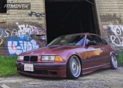 1996 BMW 328is - 17x8 20mm - BBS Super RS - Coilovers - 205/40R17