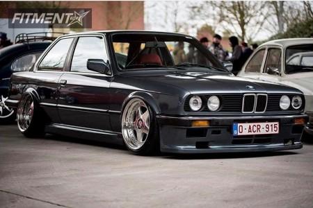 1987 BMW 325 - 17x8.5 27mm - OZ Racing  - Air Suspension - 195/40R17