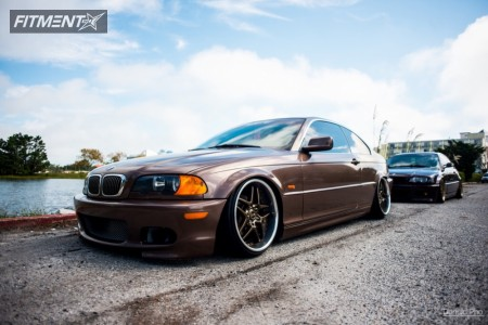 2000 BMW 323Ci - 18x10 43mm - Blitz Type-03 - Coilovers - 215/35R18