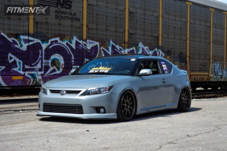 2013 Scion tC - 19x9.5 23mm - Work D9r - Coilovers - 225/35R19