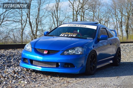 2006 Acura RSX - 17x9 22mm - Gram Lights 57xtreme - Coilovers - 255/40R17