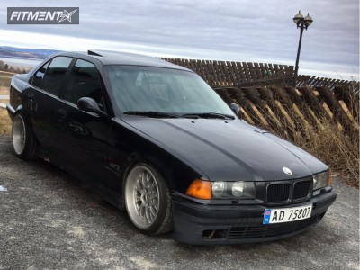 1996 BMW 320i - 17x8.5 13mm - Rondell D58 - Coilovers - 195/40R17