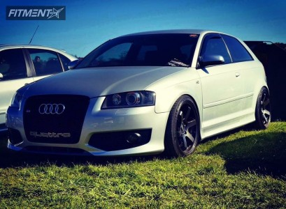 2008 Audi S3 - 18x8.5 25mm - Bola B1 - Coilovers - 225/40R18