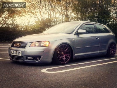 2004 Audi A3 - 18x8.5 45mm - 3sdm 0.01 - Coilovers - 215/35R18