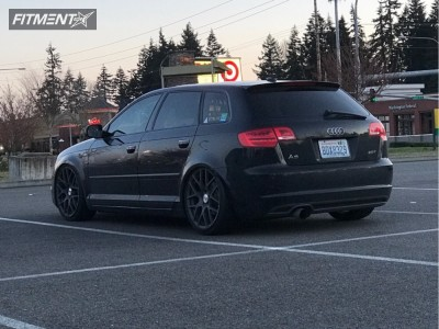 2012 Audi A3 - 19x8.5 45mm - TSW Nurburgring - Coilovers - 235/35R19