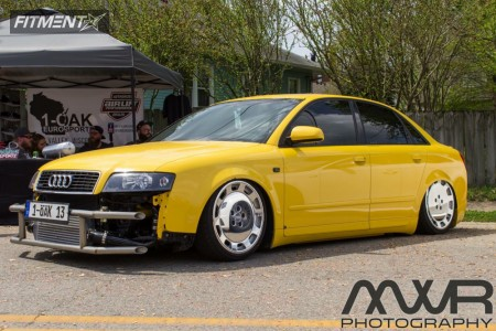 2003 Audi A4 Quattro - 18x8 48mm - Audi A8 Monoblocks - Air Suspension - 215/35R18