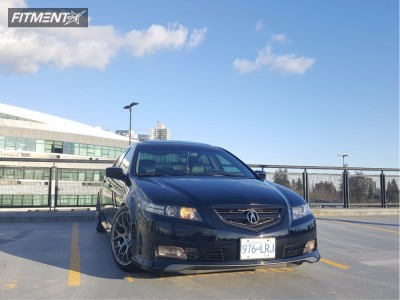 2005 Acura TL - 18x9.5 33mm - VMR V710 - Coilovers - 245/40R18