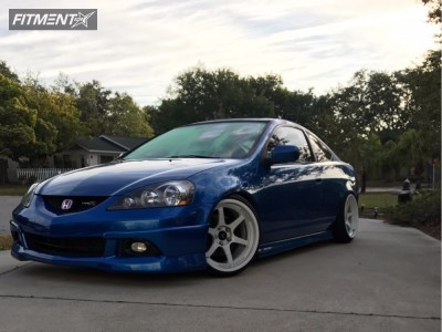 2006 Acura RSX - 18x9 35mm - Cosmis Racing XT-006R - Coilovers - 225/50R18