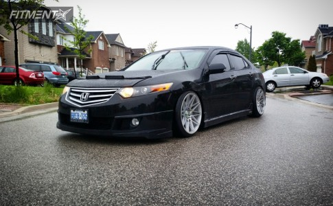 2009 Acura TSX - 19x10 20mm - Klutch Km20 - Coilovers - 235/35R19