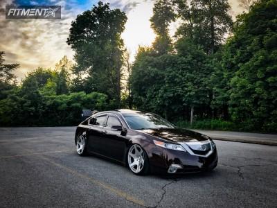 2009 Acura TL - 20x10.5 25mm - Mrr Vp3 - Air Suspension - 245/35R20