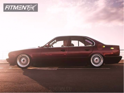 1994 BMW 525i - 17x8 20mm - BBS RC090 - Coilovers - 225/45R17