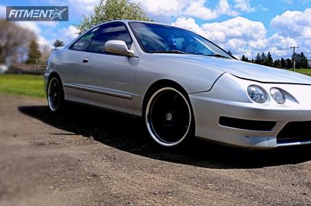 1998 Acura Integra - 17x7.5 40mm - Raceline 126 - Lowering Springs - 205/40R17