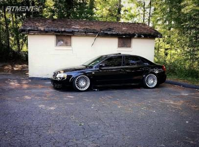 2003 Audi A4 Quattro - 18x9.5 25mm - Rotiform Ind-t - Air Suspension - 215/35R18