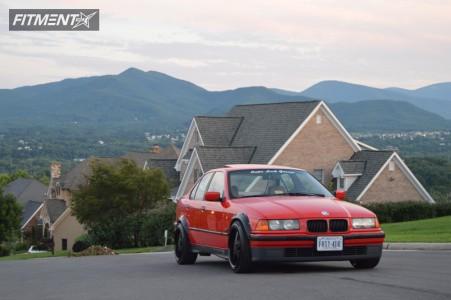 1996 BMW 3 Series - 17x9 20mm - XXR 968 - Coilovers - 215/45R17