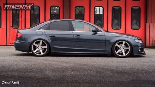 2008 Audi A4 - 19x8.5 40mm - Niche Milan - Air Suspension - 235/35R19