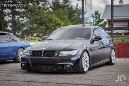2011 BMW 3 Series - 18x8.5 35mm - ESR Sr12 - Lowering Springs - 225/35R18
