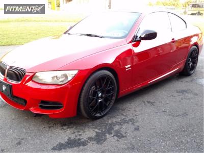 2013 BMW 335is - 18x8.5 35mm - Apex EC-7 - Stock Suspension - 225/40R18