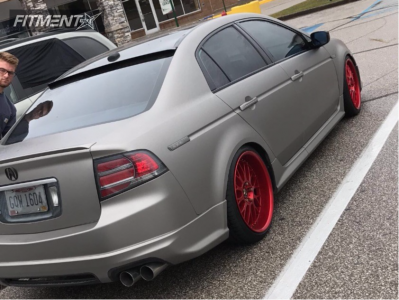 2004 Acura TL - 19x8.5 28mm - Work VS XX - Coilovers - 225/35R19