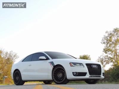2012 Audi A5 Quattro - 19x8.5 35mm - Rotiform Ind-t - Stock Suspension - 265/35R19