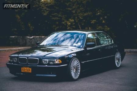 2001 BMW 745i - 20x10.5 35mm - Rotiform Ind-t - Air Suspension - 275/30R20
