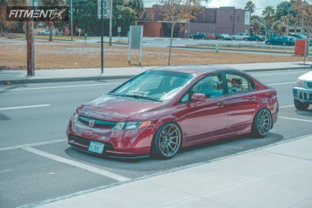 2008 Honda Civic - 18x9.75 20mm - XXR 527 - Coilovers - 215/40R18