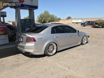 2007 Acura TL - 19x8.5 15mm - Euro Tek Uo3 - Coilovers - 225/35R19
