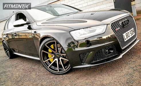 2013 Audi RS4 - 20x10 35mm - Rotiform Spf - Lowering Springs - 265/30R20
