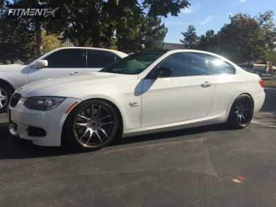 2011 BMW 335is - 19x9.5 30mm - Work Emotion Cr 2p - Coilovers - 235/35R19