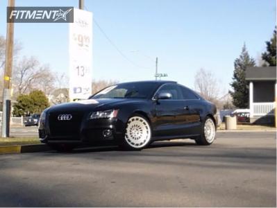 2009 Audi S5 - 20x10 35mm - Rotiform Ccv - Stock Suspension - 225/30R20