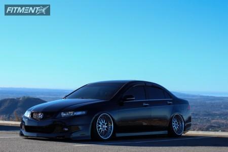 2006 Acura TSX - 18x10 26mm - Work VS XX - Air Suspension - 215/40R18