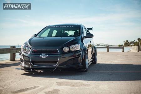 2014 Chevrolet Sonic - 17x9 20mm - STR 514 - Lowering Springs - 255/40R17
