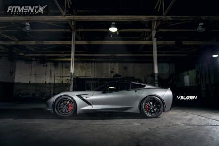 2016 Chevrolet Corvette - 19x9.5 32mm - Velgen Vfmp10 - Stock Suspension - 275/30R19