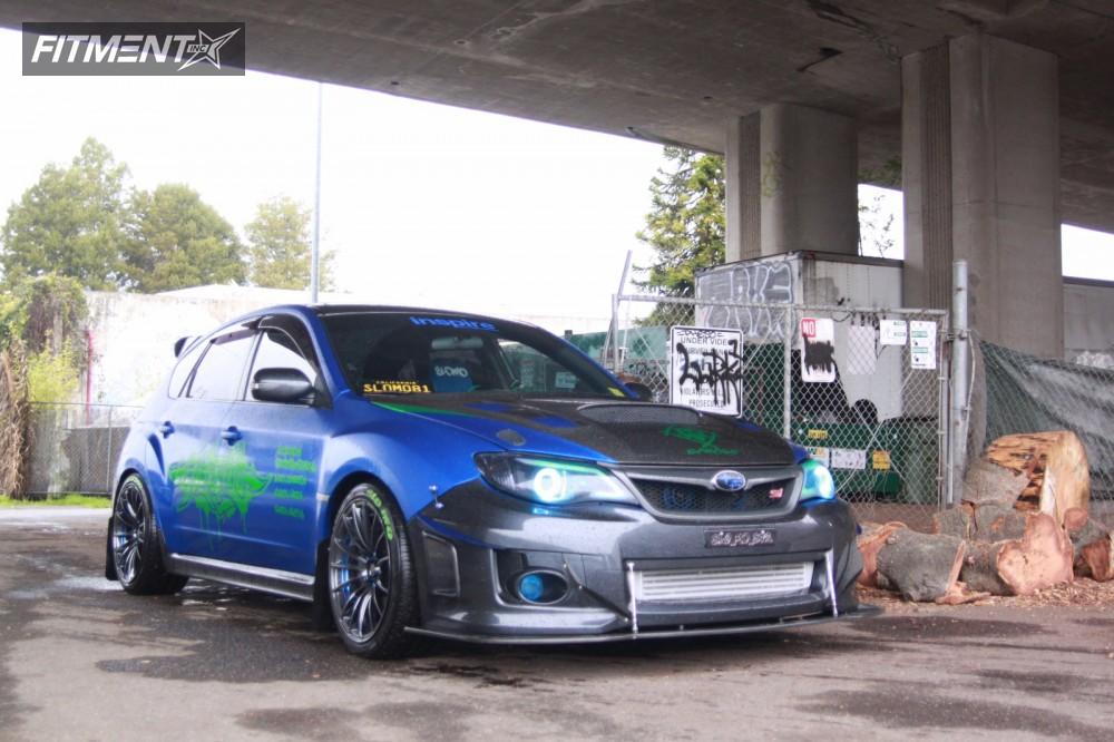2013 Subaru WRX STI  with WEDS Sa15r